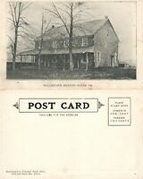 WILLISTOWN MEETING HOUSE PA UNDIVIDED ANTIQUE POSTCARD