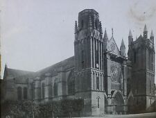 Saint Pierre Cathedral, Poitiers, France, Magic Lantern Glass Slide