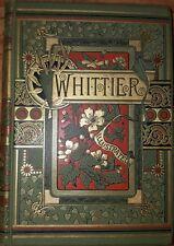 POEMS BY WHITTIER by Whittier, John G.. Antique Victorian Fine Binding