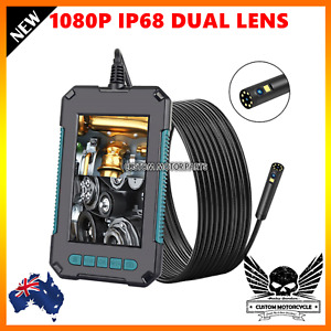 "Dual inspection Camera 1080PLED HD 4.3"" endoscope IP68 Waterproof borescope"