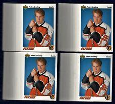PETER FORSBERG (100)LOT(BV=$400) RC ROOKIE CARD 1991-92 Upper Deck#64 Avs Flyers