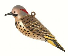 Flicker Woodpecker Bird Cobane Hand Blown Glass Christmas Tree Ornament