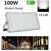 US 100W LED Flood Light Cool White Camping Outdoor Lighting Security Wall Lamp