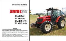 SAME Silver 80 90 100.4 100.6 Tractor Service Repair Workshop Manual CD