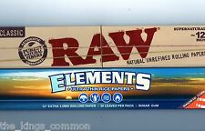 """RAW And ELEMENTS 12"""" Inch Large Huge Rolling Papers Classic Natural Unrefined"""