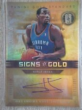 SERGE IBAKA 2011-12 GOLD STANDARD SIGNS OF GOLD AUTOGRAPH CARD #SG-52 001/149