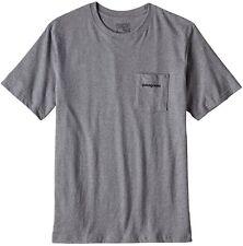Patagonia P-6 Logo Cotton Pocket T-Shirt L Gravel Heather