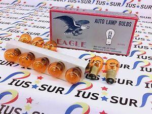 NSOP 10 EAGLE AUTO HALOGEN HD LAMP BULBS 9-11572 1157A 1157 AMBER 12V32/3CP TURN