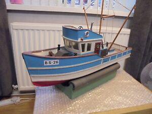 """Superb Vintage """"Giacomo Fishing Boat BS-26"""" R/C Model Boat. ( Restoration )"""