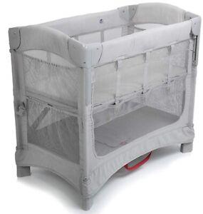 Arm's Reach Mini Ezee 2 IN 1 Baby Co-Sleeper Bedside Bassinet Grey NEW