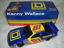 """1/24 #81 1997 KENNY WALLACE SQUARE """"D"""" FORD TBIRD ACTION LIMITED DIECAST BANK"""
