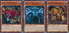 Yugioh Set of 3 HOLO PLAYABLE God Card Set: Slifer Obelisk Ra LDK2-ENS01 MINT!!