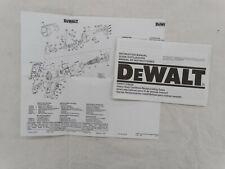 DeWalt DW937 / DW938 Heavy Duty Cordless Reciprocating Saws Instruction Manual