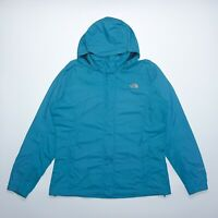 The North Face Women's Blue Waterproof Breathable Hyvent Parka Jacket Size XL
