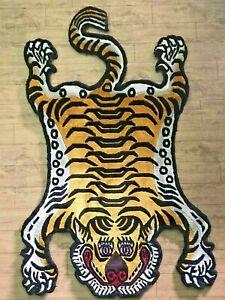 Tibetan Tiger Golden silk rug