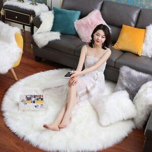 Round Rug/carpet Fluffy Soft Carpet Living Room Bedroom Carpet Floor Mat