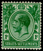 MALAYSIA - Straits Settlements SG193, 1c green, VLH MINT. Cat £13.
