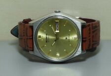 Vintage ALLWYN Automatic Day Date Mens Stainless Steel Wrist Watch Old Used R268