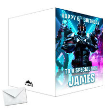Personalised birthday card Destiny 2 any name//age//relation