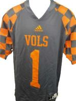 NEW #1 Tennessee Volunteers Mens Sizes S-M-XL-2XL Adidas Gray Football Jersey