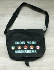2004 Nintendo Know Your Mushrooms Mario Messenger Bag Laptop Carrying Case RARE