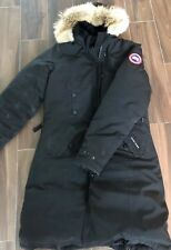 Canada Goose Kensington Parka Jacket Coyote Fur Women Black XL