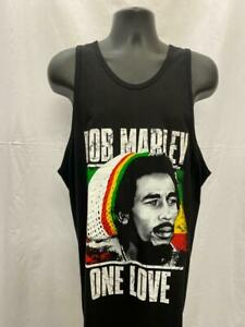 Black Bob Marley Vest Top