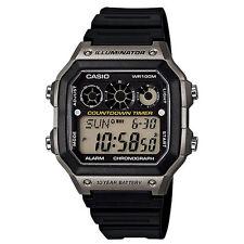 Casio AE-1300 Original New Digital Mens Watch 5 Alarms Resin Band AE1300WH-8