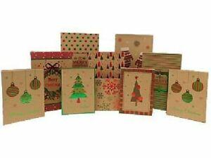10  Christmas Gift Boxes Foil Decorated Kraft : 3 Shirt + 5 Lingerie+ 2 Robe