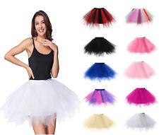 Women's Fancy Dancewear Tutu Petti Skirt Princess Skirts Party Perform 10 Colors