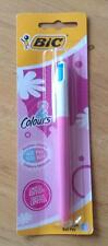 Bic 2 Colour Fashion Retractable Ball Pen ~ Medium 1.0mm ~ Ltd Ed Pink & Blue