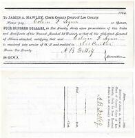 RARE – CIVIL WAR 1865 $400 Bounty – Lee County Scrip