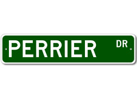 PERRIER Street Sign - Personalized Last Name Signs