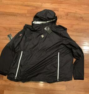 Nike Men's New Orleans Saints Alpha Fly Rush PO Jacket 4XL NWT $110