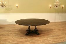 Country Jupe Table, Solid Walnut, Ebony, Self-storing Leaves