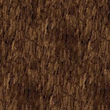 Rich Brown Tree Bark Fabric, Northcott, Naturescapes, 21381-36 (By 1/2 Yard)