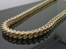 "10K Yellow Gold Men's Thick Franco Chain 32"" Rope,Italian,Cuben 8mm 102.5 gram"