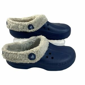 Crocs Mammoth Unisex Navy Luxe Lined Clogs Size M 9 / W 11