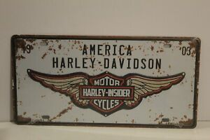 HDNP5 HARLEY DAVIDSON MOTOR CYCLES Number Plate / Metal Sign New 15.5 H X 30.5 W