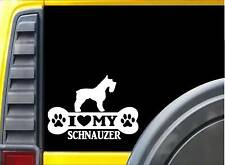 Schnauzer Bone Sticker L008 8 inch miniature dog decal