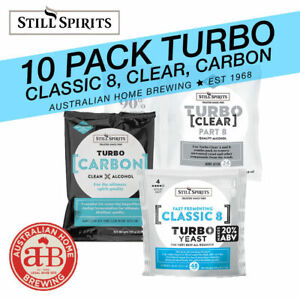Still Spirits Classic 8 Turbo Yeast Turbo Carbon Turbo Clear 10 pack home brew