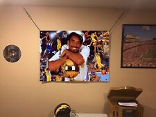 HUGE 43x32 Kobe Bryant vinyl banner POSTER Los Angeles Lakers Lebron James ART.
