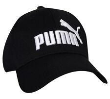 new product f131e 439e2 PUMA Black Evercat Stretch Fit Cap Hat Curved Bill Size Small medium