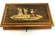 Vintage c1935 Gueissaz Mechanism Italy Music Box Wood Inlay~ Isle Of Capri 1848