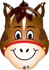 "32"" SUPERSHAPE FOIL BALLOON ""HILARIOUS HORSE"" ANIMAL HEAD"
