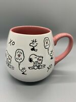 Peanuts Snoopy Woodstock Mug LOVE NOTES XOXO Coffee Tea Mug Collectible #1690