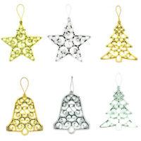 Fj- Cn_3x Natale Stella Albero Jingle Bell Ornamento da Appendere Esibizione D
