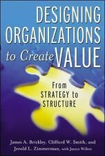 Designing Organizations to Create Value : From Strategy to Structure by...