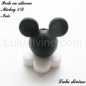 Perle Mickey Perle acrylique de 37 x 34 mm Blanc