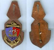Coloniale - Compagnie coloniale Bourbon Drago Paris sur cuir émail